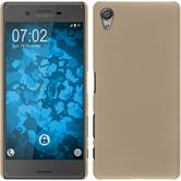 Hardcase for Sony Xperia X rubberized gold