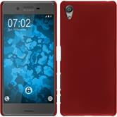 Hardcase for Sony Xperia X rubberized red