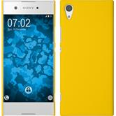 Hardcase Xperia XA1 rubberized yellow