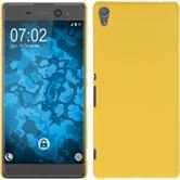 Hardcase for Sony Xperia XA Ultra rubberized yellow