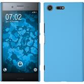 Hardcase Xperia XZ Premium rubberized light blue