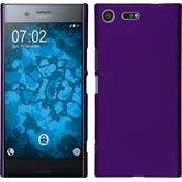 Hardcase Xperia XZ Premium rubberized purple