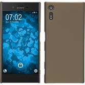 Hardcase for Sony Xperia XZ rubberized gold