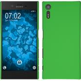 Hardcase for Sony Xperia XZ rubberized green