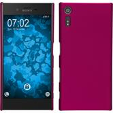 Hardcase for Sony Xperia XZ rubberized hot pink