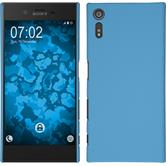 Hardcase for Sony Xperia XZ rubberized light blue