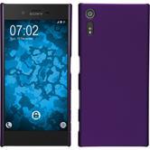 Hardcase for Sony Xperia XZ rubberized purple
