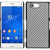 Hardcase for Sony Xperia Z3 Compact carbon optics silver