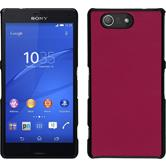 Hardcase for Sony Xperia Z3 Compact leather optics hot pink