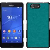 Hardcase for Sony Xperia Z3 Compact leather optics turquoise