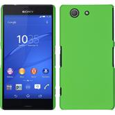 Hardcase for Sony Xperia Z3 Compact rubberized green