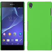 Hardcase for Sony Xperia Z3 rubberized green
