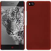 Hardcase for ZTE Nubia Z9 Mini rubberized red