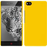 Hardcase for ZTE Nubia Z9 Mini rubberized yellow