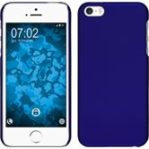Hardcase iPhone 5 / 5s / SE gummiert blau + 2 Schutzfolien