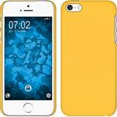 Hardcase iPhone 5 / 5s / SE gummiert gelb + 2 Schutzfolien