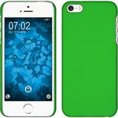 Hardcase iPhone 5 / 5s / SE gummiert grün + 2 Schutzfolien