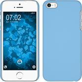 Hardcase iPhone 5 / 5s / SE gummiert hellblau + 2 Schutzfolien
