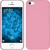 Hardcase iPhone 5 / 5s / SE gummiert rosa + 2 Schutzfolien