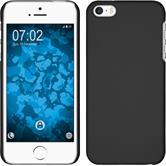 Hardcase iPhone 5 / 5s / SE gummiert schwarz + 2 Schutzfolien