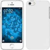 Hardcase iPhone 5 / 5s / SE gummiert weiß + 2 Schutzfolien