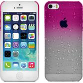 Hardcase iPhone 5 / 5s / SE Waterdrops pink