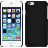 Hardcase iPhone 6s / 6 gummiert schwarz + 2 Schutzfolien