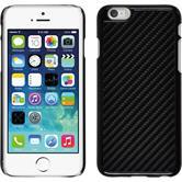 Hardcase iPhone 6s / 6 Carbonoptik schwarz + 2 Schutzfolien