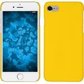 Hardcase iPhone 7 gummiert gelb