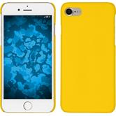 Hardcase iPhone 7 / 8 gummiert gelb + 2 Schutzfolien