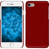 Hardcase iPhone 8 rubberized red + protective foils