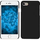 Hardcase iPhone 7 / 8 gummiert schwarz + 2 Schutzfolien