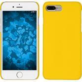 Hardcase iPhone 8 Plus gummiert gelb + 2 Schutzfolien