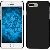 Hardcase iPhone 8 Plus rubberized black + protective foils