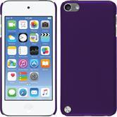 Hardcase iPod touch 5 / 6 gummiert lila + 2 Schutzfolien