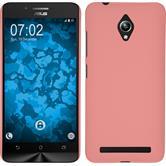 Hardcase Zenfone Go (ZC500TG) gummiert rosa + 2 Schutzfolien