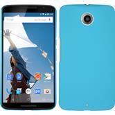 Hardcase Nexus 6 gummiert hellblau + 2 Schutzfolien
