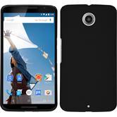Hardcase für Google Nexus 6 gummiert schwarz