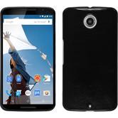 Hardcase für Google Nexus 6 Lederoptik schwarz