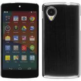 Hardcase for Google Nexus 5 metallic black / silver