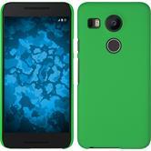 Hardcase Nexus 5X gummiert grün + 2 Schutzfolien