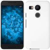 Hardcase Nexus 5X gummiert weiß + 2 Schutzfolien