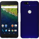 Hardcase Nexus 6P gummiert blau + 2 Schutzfolien