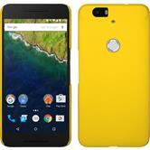 Hardcase Nexus 6P gummiert gelb + 2 Schutzfolien