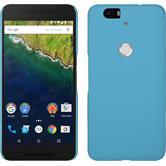 Hardcase Nexus 6P gummiert hellblau + 2 Schutzfolien
