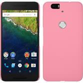 Hardcase Nexus 6P gummiert rosa + 2 Schutzfolien