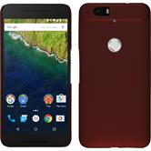 Hardcase Nexus 6P gummiert rot + 2 Schutzfolien