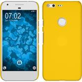 Hardcase Pixel gummiert gelb + 2 Schutzfolien