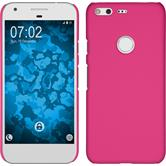 Hardcase for Google Pixel rubberized hot pink