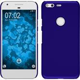 Hardcase Pixel XL gummiert blau + 2 Schutzfolien